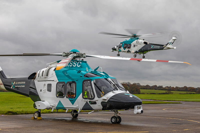 Both of KSS's AW169s together