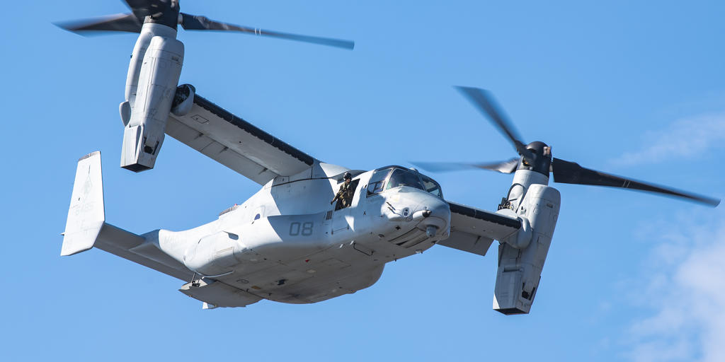 The V 22 Osprey exceeds 500,000 flight hours | AirMed&Rescue